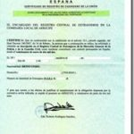 Old Spanish Residency Certificate Example