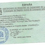 Example Spanish Residency Card