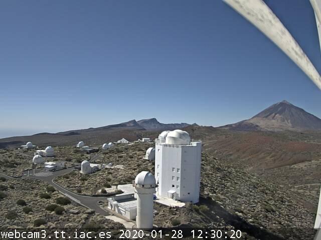 Montaña Guajara desde Gregor, Izaña Webcam