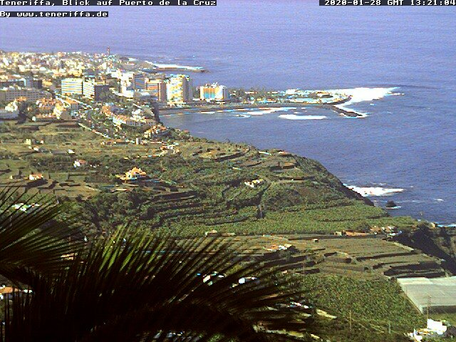Puerto de la Cruz Zoom View Webcam
