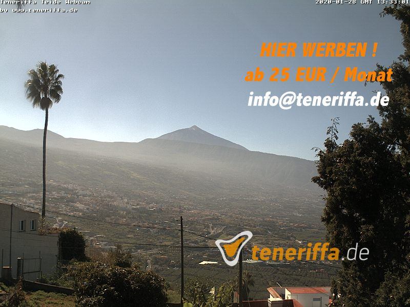 Teide View from Santa Ursula Webcam