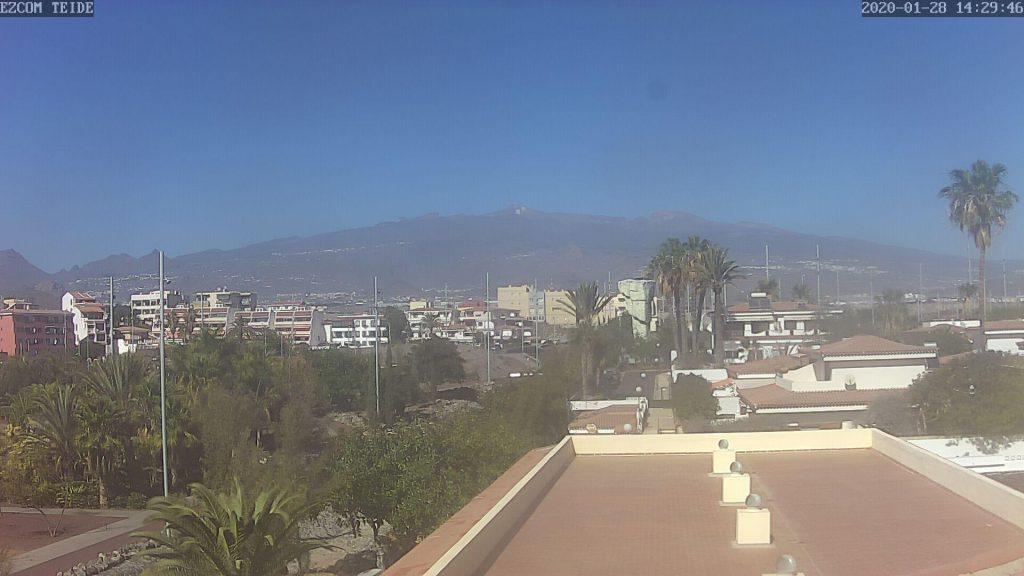 Parque de Garañaña, vista al Teide, Costa del Silencio Webcam