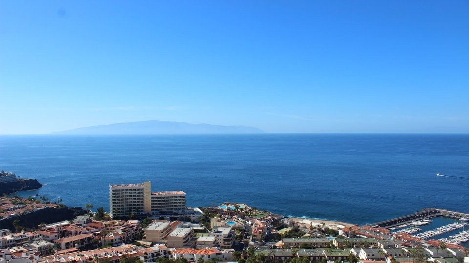 Los Gigantes View of La Gomera Webcam