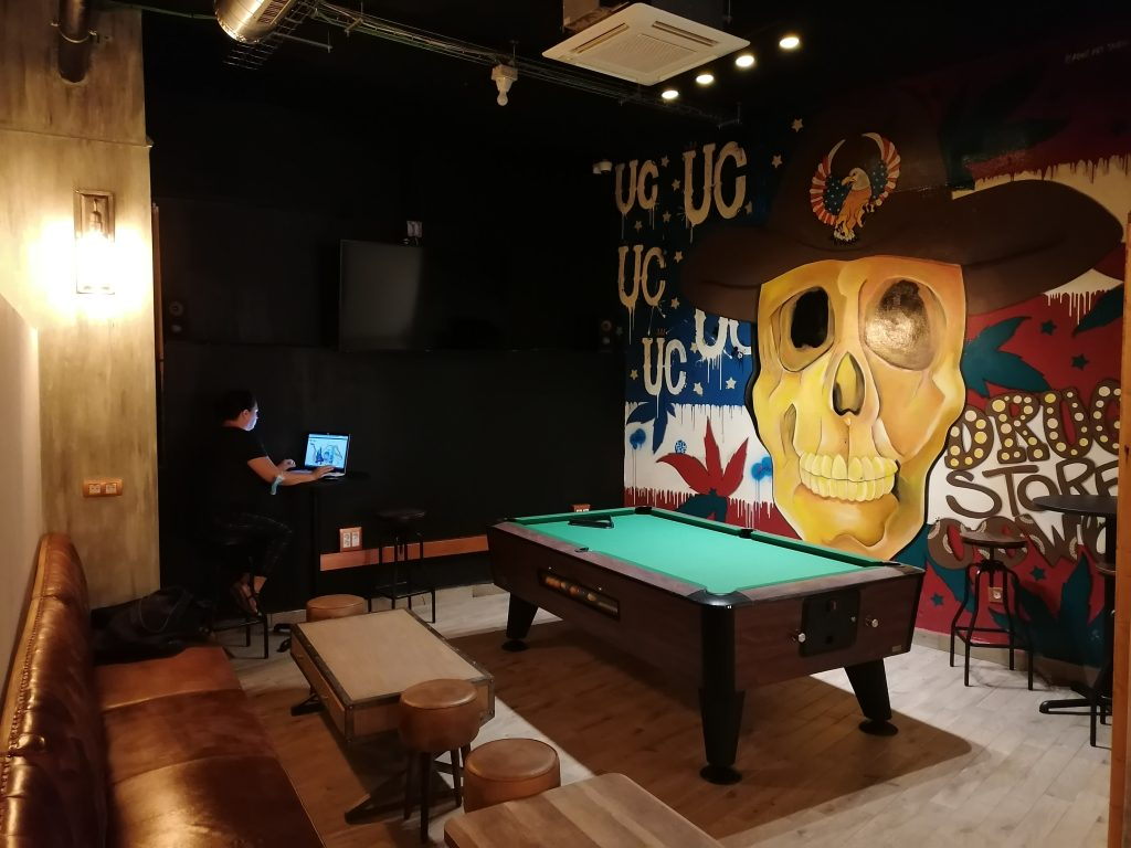 Urban Cream Pool Table Art Wall
