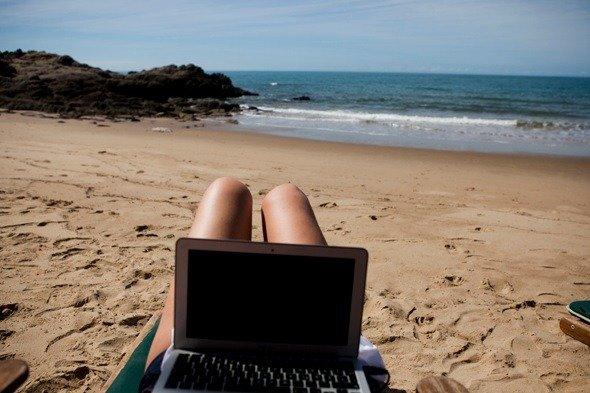 Home Working Tenerife Beach